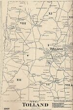 Tolland Snipsic Lake Willimantic River CT 1869 Maps with Homeowners Names Shown