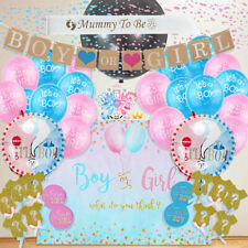 91Pcs Baby Gender Reveal Birthday Baby Shower Party Supplies Latex Sets Decor US