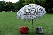 Garden Parasol Handmade Mandala Indian Outdoor Sun Shade Patio Umbrella 80""