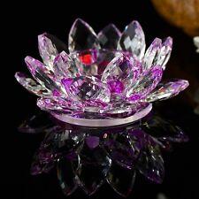 Crystal Lotus Flower Candle Stand Holder Tea Light Deco Christmas Gift