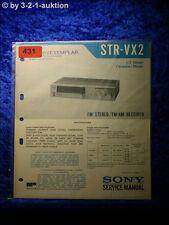 Sony Service Manual STR VX2 Receiver  (#0431)