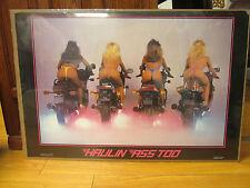 vintage Haulin ass too Kawasaki Yamaha motorcycles 1986 Poster original