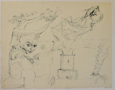 Federico Castellon c.1940 surrealist drawing Spain Spanish surrealism