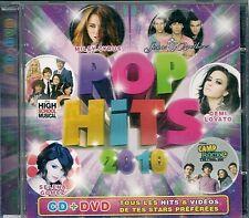 CD COMPIL 20 TITRES + DVD BONUS--POP HITS 2010--GOMEZ/CYRUS/JONAS/EFRON/STUBBY