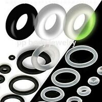 6pcs. Replacement Black, Clear, Glow In Dark, Rubber O-Rings (Choose Color/Size)