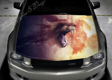 Lion Flame Car Bonnet Wrap Decal Full Color Graphics Vinyl Sticker #067