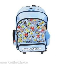 "ANGRY BIRDS BLUE 16"" ROLLING DETACHABLE BACKPACK BY ROVIO!DETACHABLE BACK PACK"