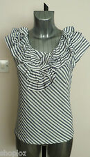 Marks and Spencer Stretch Striped Hip Length Women's Tops & Shirts