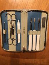 Vintage West Germany Solingen Leather Case Manicure Set 8 Pieces Unused