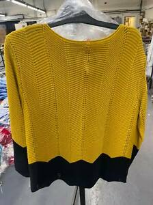 NEW LADIES WOMENS COLOURBLOCK CHEVRON JUMPERS PULLOVER SWEATER SIZES S M L XL
