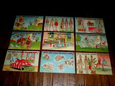 Wwii U.S Military Comic Postcards Female Wac By Beals 9 Cards In Set Vintage