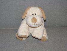 "Ty Cream Tan Plopper Puppy Dog 9"" Plush Stuffed Beanie Pluffies Sewn Eyes EXC"