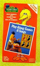 Sesame Street Play-Along Games & Songs ~ VHS Video ~ Rare Original Green Tape