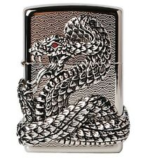 Genuine SNAKE COIL NIKEL  Zippo Lighter  Free Tracking Number Windproof
