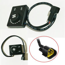 Car Vehicle Truck Van Bus Air Diesel Heater Knob Switch 12/24V Black Universal