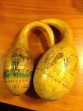 Hand Carved Calabash Gourds Denoting Politics, Banking & The Public Works Admin.