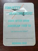 Tom Petty & The Heartbreakers Long After Dark American Tour 83 Working Pass VIP