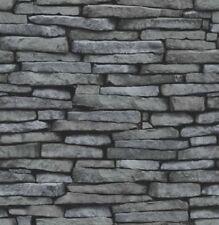 Decoración de paredes de color principal negro de piedra para el hogar