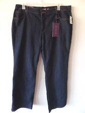 Gloria Vanderbilt Womens 20W Barely Boot Cotton Poly Stretch Dark Blue Jeans New