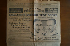 Cricket - Collectable - Vintage 1938 - The Sun - Page 1 - England's Record Score