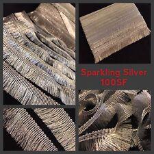 9 Meters Fancy Silver Lurex Fringe Tassel Trim Saree Border Craft Sew On Lace
