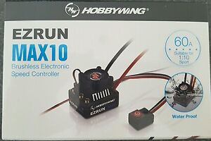 HOBBYWING MAX10 ,60 AMP WATER PROOF  ESC 4000KV MOTOR COMBO GENUINE AND SEALED