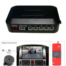 Car Video Parking Reverse Backup Assistant Radar Buzzer Alarm System Flat Sensor