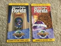 Vintage Universal Studios Florida Holiday Park Brochures 1999 Mint Condition