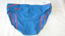 "SWIMMING TRUNKS *BNWT* Speedo 9-10 years 28"" BLUE / RED Boys School New"