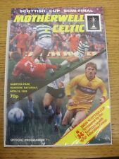 13/04/1985 Scottish Cup Semi-Final: Motherwell v Celtic [At Hampden Park] (Faint