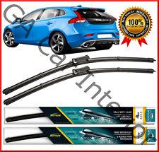 "Volvo V40  2013 2014 2015 2016 Front Pair Flat Aero Wiper Blades 26"" 19"" set D"