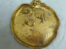 MC CLELLAND BARCLAY ART DECO TURTLE, LIZARD,FROGS ON LILY PADS ON TRINKET DISH