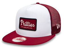 Philadelphia Phillies New Era Emblem Foam Red / White Trucker Cap Snapback - S/M