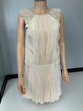 Tibi New Cream 100% Silk Dress Size Rrp £675 Size Us 4 Uk 8 Bnwts