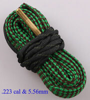 Gun Snake Bore Cleaner Rifle Shotgun Cleaning Kit for .22 Cal .223 Cal & 5.56mm