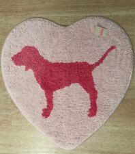 Victoria's Secret Pink Dog Logo Heart Shape Bath Rug Mat Carpet