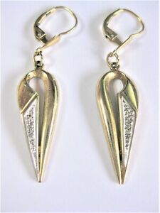 Earrings Gold 333 with Diamonds, 3,92 G