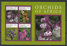 Tanzanian Flowers Sheet Postal Stamps