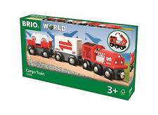 Brio Cargo Train Wooden Set, Red