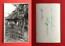 Foto AK KÖNIGSWALDE bei Schluckenau um 1930 Wohnhaus mit Garten   ( 40844
