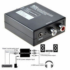 Ottico Coassiale Toslink digitale ad analogico Audio Converter Adapter L / R RCA + Cavo