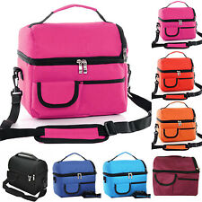 Large Insulated Lunch Bag Cool Bags Travel Picnic Food Storage Lunchbox Handbag