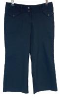 Caroline Morgans Womens Black Straight Leg 3/4 Capri Pants Size 10 W32 L23