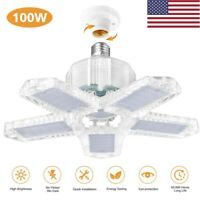 100W E27 Deformable LED Garage Light Bulb 10000LM Adjustable Shop Ceiling Lamp