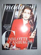 Magazine mode fashion MADAME FIGARO 9 octobre 2015 Charlotte Casiraghi