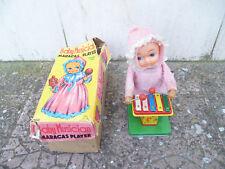 RARE Gioco Vintage Baby Musician wind up Player Maracas Made Japan TIN Toys