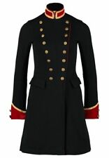 Ralph Lauren Denim & Supply Women Military Army Officer Band Long Jacket Coat XS