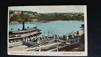 Mosman's Bay, Near Sydney 8.30AM Boat Star Photo Co. Postcard
