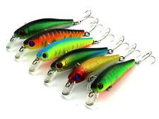 Tackle  6pcs Lot Dive Minnow Fishing Lures Crankbait Plastic Bait 8.5cm 8.9g