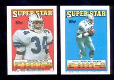 1988 Topps HERSCHEL WALKER Dallas Cowboys Sticker Back Set